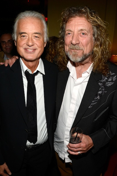 Led Zeppelin's Jimmy Page and Robert Plant.