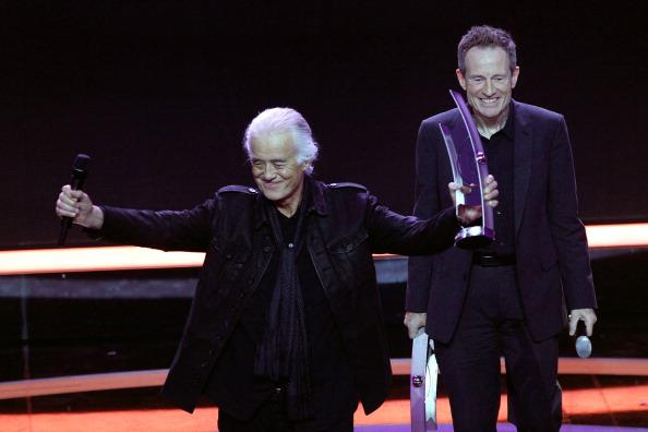 Jimmy Page and John Paul Jones recently traveled to Berlin to accept the ECHO Lifetime Achievement Award for Led Zeppelin. March 21, 2013.